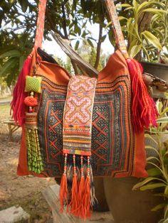 From Thailand comes this Hmong bag from Kulshi Mumkin.