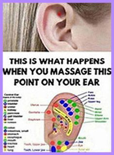 This Is What Happens When You Massage This Point On Your Ear – Herbal Medicine Book Holistic Remedies, Holistic Healing, Natural Healing, Health Remedies, Home Remedies, Natural Remedies, Medicine Book, Herbal Medicine, Sources Of Stress