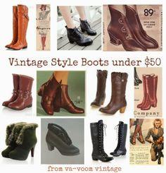 Vintage Shoes Women, Vintage Outfits, Vintage Fashion, Vintage Style, 1940s Fashion, Vintage Inspired, Vintage Classics, Vintage Boots, Vintage Wear