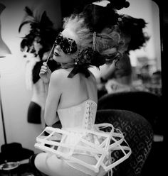 masquerade marie with corset & cage skirt