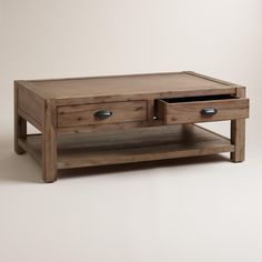 Wood Quade Coffee Table | World Market $299.99