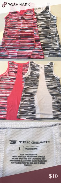 Tek Gear work out shirts - Size S Two workout shirts never worn! Were purchased from Kohl's for $12 each. tek gear Tops Tank Tops