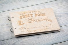 Guest book with decorative vintage elements // Custom от woodlack