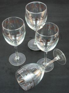 Cattle Brands Western Wine Glasses