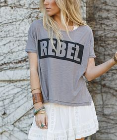 hot sales f44ea b030f Look at this Taupe Rebel Hi-Low Tee on zulily today!