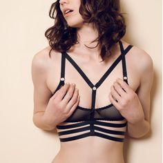 'Ellen' Elastic Body Harness - Hopeless Lingerie