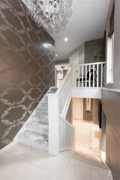 Property For Sale in Belfast Grey Hallway, Valley Park, Hallway Lighting, Belfast, Hallways, Property For Sale, Stairs, Interior, Home Decor