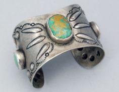 Vintage Ingot Turquoise Cuff