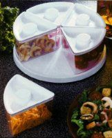 Lazy Susan Turntable Food Storage Bins, Clear, Food Saver or Pantry Use:Amazon:Kitchen & Dining