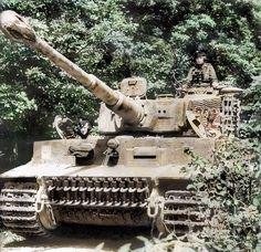 "German heavy tank PzKpfw VI ""Tiger"" No. 232 of the SS Heavy Panzer Battalion (Schwere SS-Panzerabteilung The commander of the tank - Untersharführer Kurt Cliber from the company of Michael Wittmann Tiger Ii, German Soldiers Ww2, German Army, Ferdinand Porsche, Ww2 Panzer, Mg 34, Tank Armor, Military Armor, Tiger Tank"