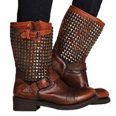 Amazinggg brown motorcycle boots