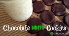 Chocolate Mint Cookies ---GoodGirlGoneGreen.com