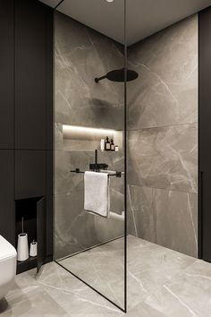 Amazing 33 Stunning Black Bathroom Shower Design Ideas That You Need To Copy Contemporary Bathroom Designs, Diy Bathroom Decor, Modern Bathroom Design, Bathroom Interior Design, Bathroom Ideas, Budget Bathroom, Master Bathroom, Bathroom Small, Bathroom Cleaning