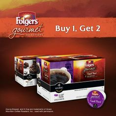Foldgers B1G2 Deal: k-cups for as low as $.28 each shipped! Through 2/27 or while supplies last!