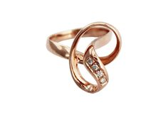 Rose gold knot ring set with diamonds. Gold Knot Ring, Gold Rings, Modern Jewelry, Precious Metals, Wedding Engagement, Heart Ring, Diamonds, Rose Gold, Sculpture