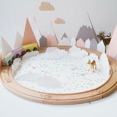 Petit train poétique DIY par la maison de loulou - Kids DIY - Marie Claire Idées
