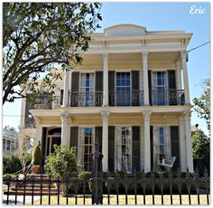 Garden District Double Gallery Homes in New Orleans.