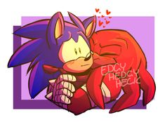 """edgyhedgyheck: """"fellas is it gay to kiss ur bf """" Sonic & Knuckles, Amy, Naruto, Dangerous Love, Sonic And Shadow, Echidna, Sonic Fan Art, Sonic Boom, My Hero Academia"""