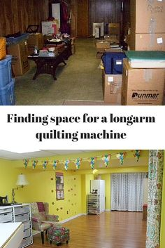 Finding space for a longarm quilting machine. Lots of quilters stop by our booth at quilt shows and dream of a perfect quilting studio including a longarm machine. Many lament about not having the space for one.