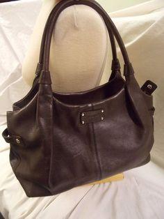 Kate Spade Berkshire Road Stevie Brown Leather Satchel Handbag Purse #katespade #ShoulderBag