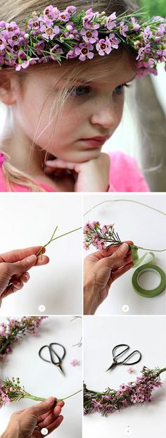 How to Make a Spring Flower Crown | Click Pic for 22 DIY Summer Wedding Ideas on a Budget | DIY Garden Wedding Ideas on a Budget