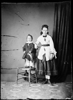 Miss and Master Wright c. 1870-75  State Library of New South Wales