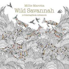 Wild Savannah: A Coloring Book Adventure - Coloring Book Zone
