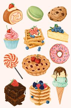 how do html color codes work Cute Food Art, Cute Art, Et Wallpaper, Christmas Ice Cream, Desserts Drawing, Dessert Illustration, Cute Food Drawings, Watercolor Food, Food Painting