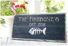 Beyond adorable hand painted sign from - Onion Grove Mercantile: The Fishbones