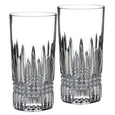 Waterford   Lismore Diamond Hiball, Set of 2    Whether used for serving ice cold water, or a mixed drink brimming with ice, these Lismore Diamond Highballs are radiant and beautiful examples of Waterford tradition.      $125.00