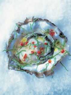 oysters with chilli, ginger & rice wine vinegar | Jamie Oliver | Food | Jamie Oliver (UK)