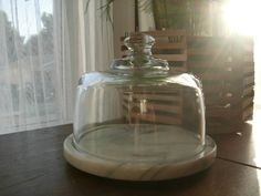 Glass Cloche on Marble Base by CashewPickle on Etsy, $30.00