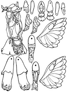 Forest Fairy Puppet to Color, Cut Out, & Assemble