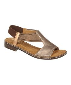 Take a look at this Brown Ringo Sandal by Naturalizer on #zulily today!