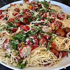 Summer Garden Pasta - Barefoot Contessa Vegetarian Pasta Recipes, Pasta Dinner Recipes, Chicken Pasta Recipes, Veggie Recipes, Healthy Recipes, Pesto Pasta Recipes, Barefoot Contessa, Italian Dishes, Italian Recipes