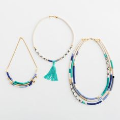 3 Easy Ways To Make A Stunner Necklace With Rope Via Brit Co Loome Friendship Bracelets