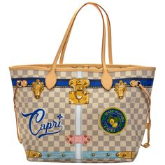 84146761fd Louis Vuitton Box Capri Neverfull Damier Azur Bag Tote Bag