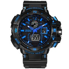 Nuebing Analog Waterproof Outdoor Sport Digital Boys Watch for Student. Date, day, month display, light, waterproof. Alarm clock function, stopwatch function, hourly-chime function. Band length: from 6.22 to 9.13 inches. Good quality Japanese quartz movement. Recommended age: more than 13 years old.