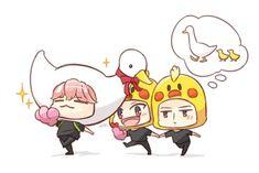 Chanbaek with baby hunie 😚❣️ Cr : aaasta Chanbaek Fanart, Baekyeol, Crazy Funny Memes, Wtf Funny, Baekhyun, Exo Fan Art, Exo K, Chibi, Peanuts Comics