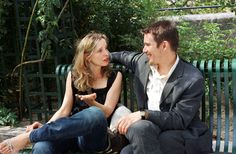Before Sunset _ Ethan Hawke & Julie Delpy Before Sunset Movie, Before Sunrise Trilogy, Before Trilogy, Movie Shots, I Movie, Julie Delpy, Good Looking Actors, Ethan Hawke, Movies Worth Watching