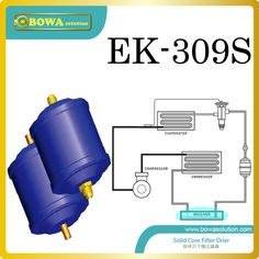 EK309S R404a  filter driers are installed in slurry ice maker machine replace Alco filter driers