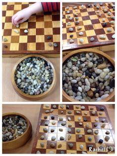 "Game board & stones from Rachel ("",)"