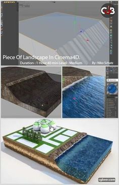 Piece of Landscape In Cinema 4D Tutorial.There are no limits to the imagination here.#cinema4d,#cg,#tutorials.#c4d,#rendering,#3dmodeling