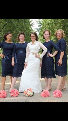 Dainty Jewells has a wide lineup of modest bridesmaids dresses that are the perfect option for an elegant and modest wedding party. Enjoy the special day with one of our amazing dresses. Modest Wedding Gowns, Modest Dresses, Modest Outfits, Nice Dresses, Modest Fashion, Mother Of The Bride Suits, Navy Blue Bridesmaid Dresses, Paris Dresses, Paris Wedding