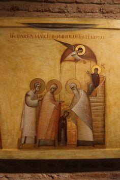 Presentation of the Theotokos by Ioan & Camelia Popa Orthodox Icons, Mystical Art, Christian Illustration, Byzantine Art, Art, Catholic Art, Christian Art, Sacred Art, Art Hobbies