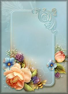 Cartas Framed Wallpaper, Wallpaper Backgrounds, Flower Frame, Flower Art, Molduras Vintage, Parchment Craft, Borders And Frames, Paper Frames, Decoupage Paper