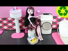 How to Make a Doll Washer / Dryer - Recycling - Realistic Look