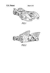 Blueprints and Schematics of the Batmobile, designed by