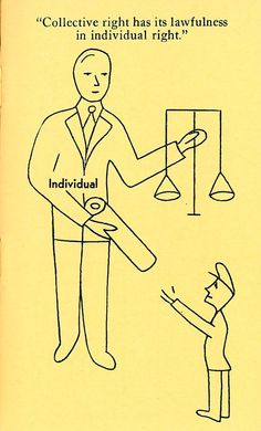 """""""Collective right has its lawfulness in individual right."""" - Frederic Bastiat"""