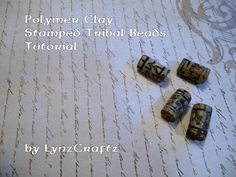 Polymer Clay Stamped Tribal Beads tutorial